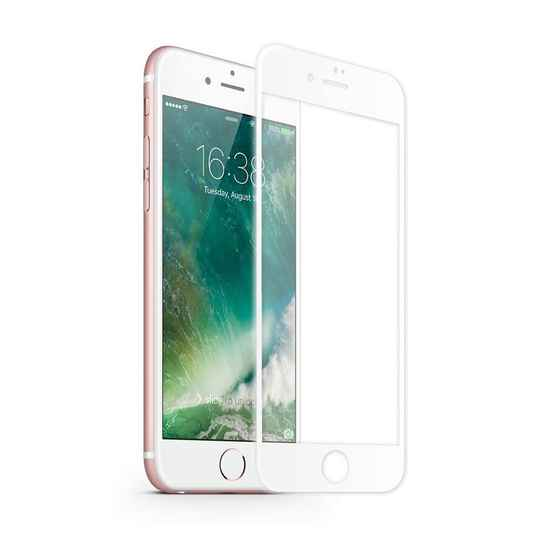 Screenprotector Apple iPhone 8 / 7 - Wit