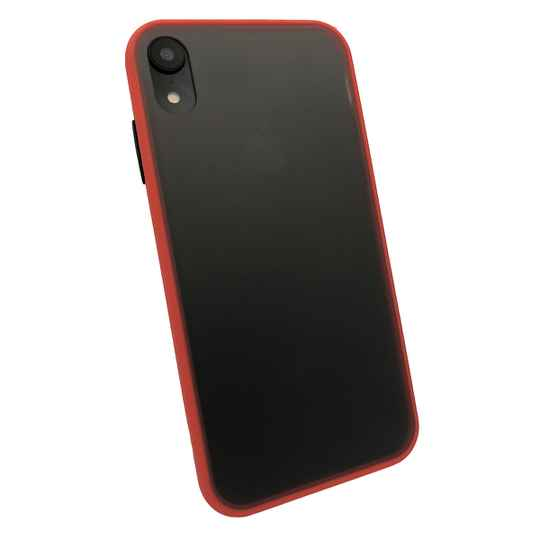 Colorbutton Backcover voor de iPhone XR - rood