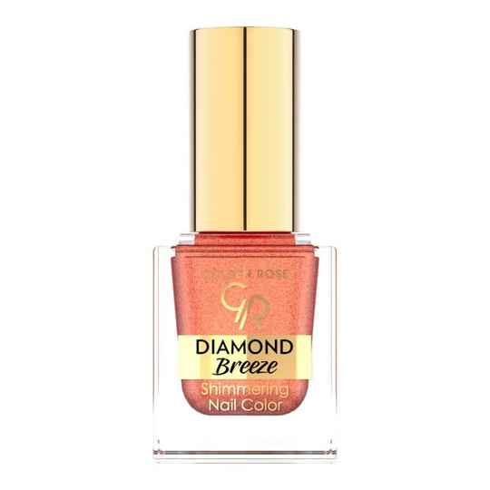 Golden Rose Diamond Breeze Shimmering Nail Color 03 Russet Sparkle