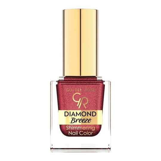 Golden Rose Diamond Breeze Shimmering Nail Color 04 Plum Sparkle