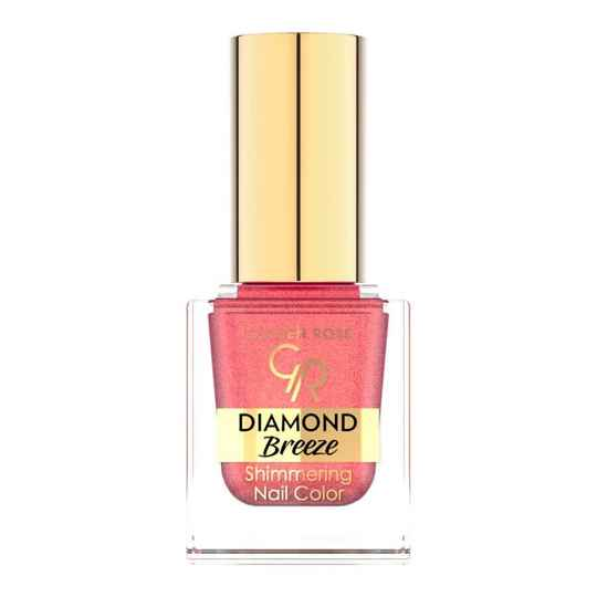 Golden Rose Diamond Breeze Shimmering Nail Color 02 Pink Sparkle