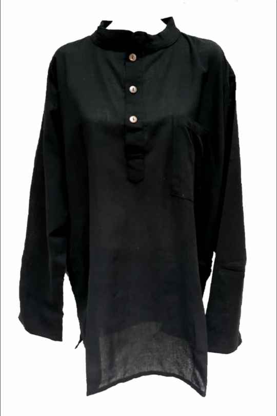 Blouse black Man and Woman