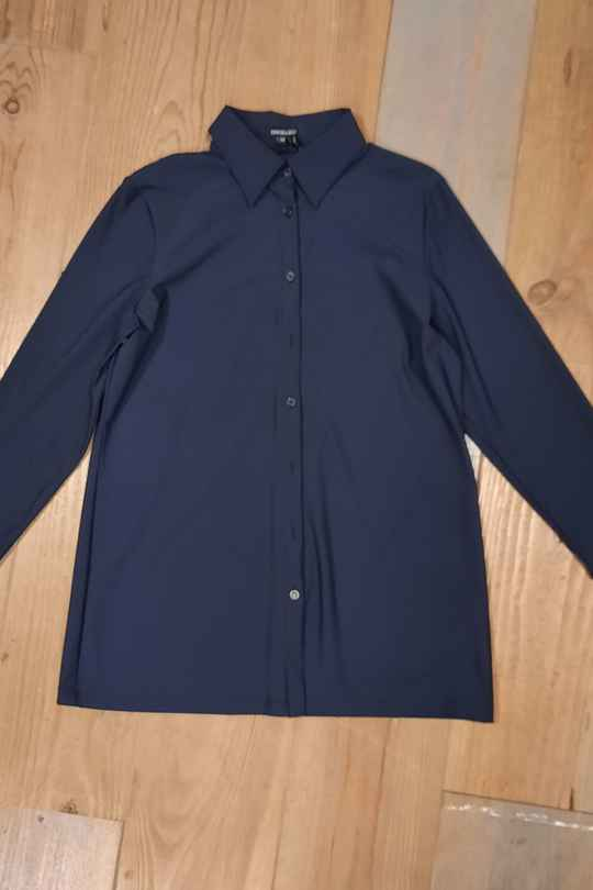 Blouse Anna donkerblauw Exxcellent