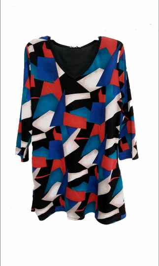 Top colourfull aline blue red