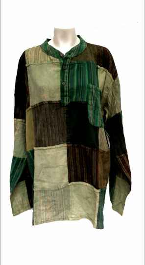 Blouse greencolours for man and woman