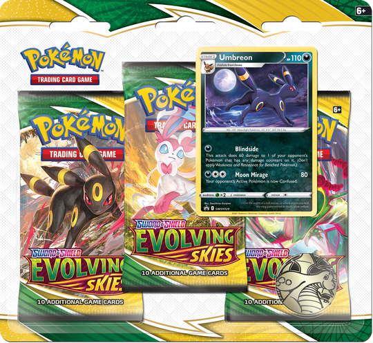 Sword and Shield Evolving Skies 3-Booster Blister