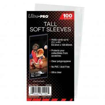 UP - Tall Soft Card Sleeves - 2-1/2 x 4-3/4 (100 Sleeves)