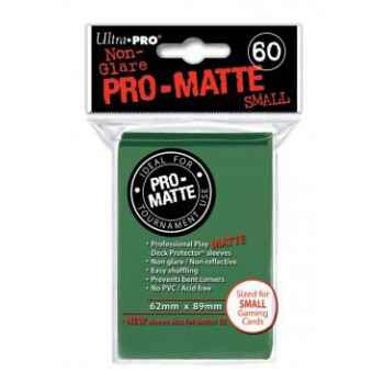 Ultra Pro Small Sleeves - Pro-Matte - Green (60 Sleeves)