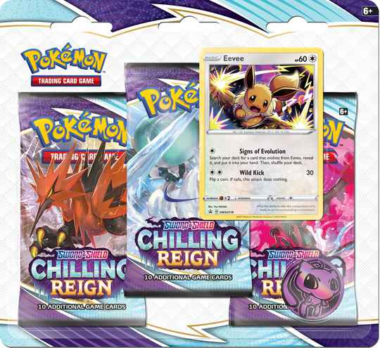 Sword and Shield Chilling Reign 3-Boosterpack Blister