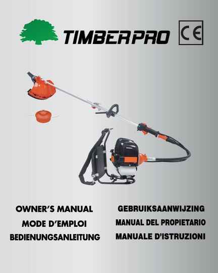 Timberpro Backpack brushcutter. user manual.