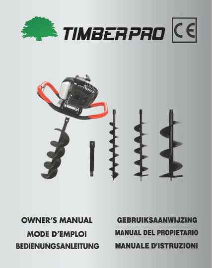 Timberpro Earth Auger user manual download, click on link.