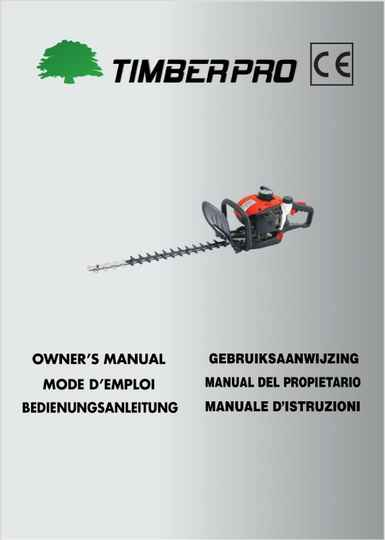 Timberpro hedge trimmer HT260 User manual download. Click link, do not add to cart.