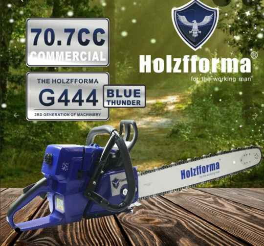 Holzfforma / Farmertec G444 Blue Thunder Chainsaw, Can Be Fitted With Stihl Bars