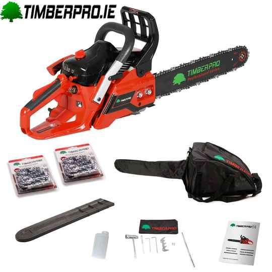 "Timberpro Chainsaw CS380 - 16"" bar & 2 chains"
