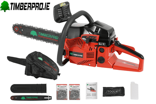 "Timberpro CS5200 chainsaw - 16"" bar & 2 chains."