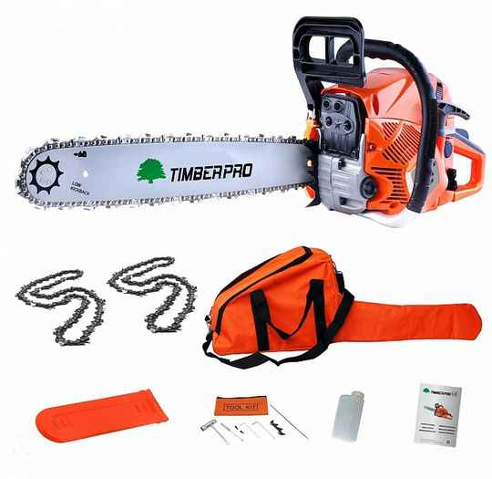 "Timberpro Standard CS6150 Chainsaw - 20"" bar & 2 chains."