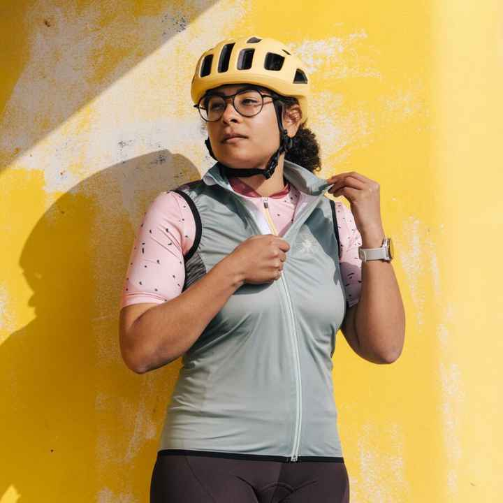 Cycling Gilet – Just in Case Olive-Plum