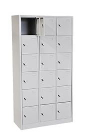 STL-G112 18 Door Steel Locker Cabinet