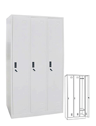 STL-G102 3 Door Steel Locker Cabinet