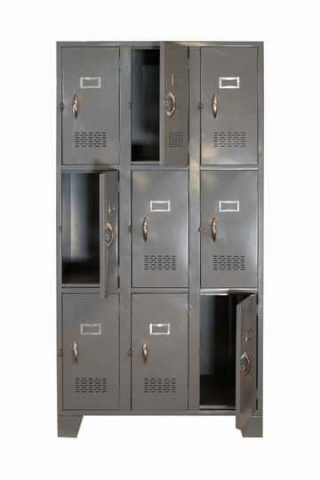 STL-US106 9 Door Steel Locker