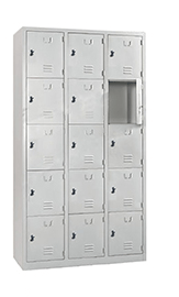 STL-G110 15 Door Steel Locker Cabinet