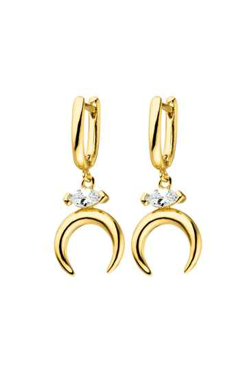 Marquise Moon Earrings 18K Gold Plated