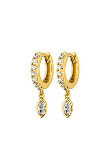Marquise Earrings 18K Gold Plated