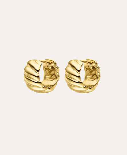 Paul Valentine Twista Small Hoops 18K Gold Plated