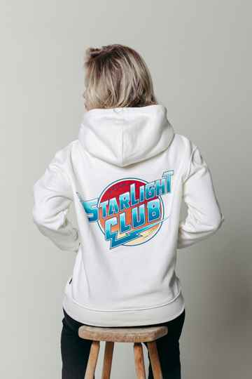 Colourful Rebel Starlight Club Oversized Hoodie Offwhite