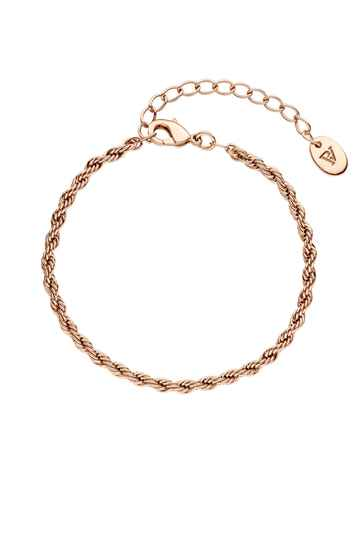 Vintage Classic Twisted Bracelet 18K Rose Gold Plated
