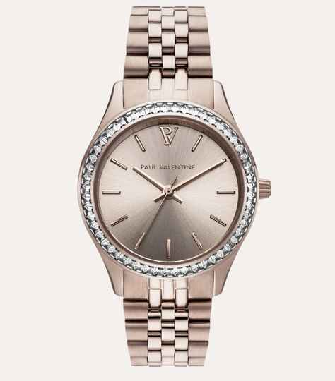 Paul Valentine Watch Iconia Crystal Champagne