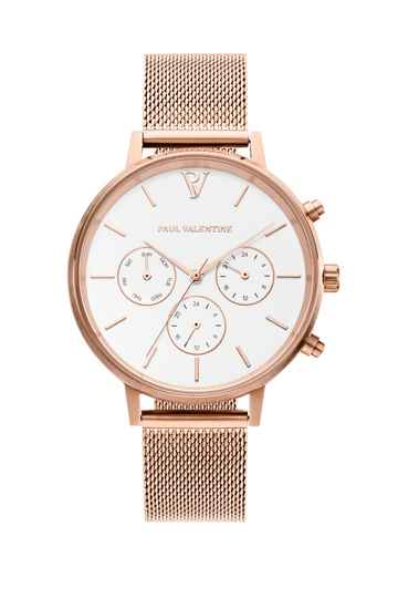 Watch Multifunctional Mesh Rose Gold