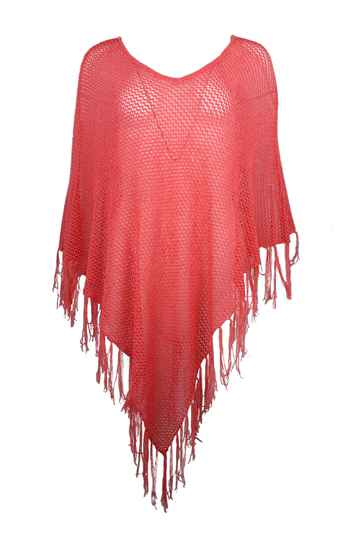 Yest Poncho in coral (UVP. 29,95)