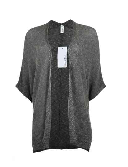 Friendtex Knit Cape 15107 in Dark Grey