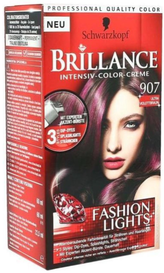 Schwarzkopf - Coloration Brillance ULTRA VIOLETT BRAUN 907