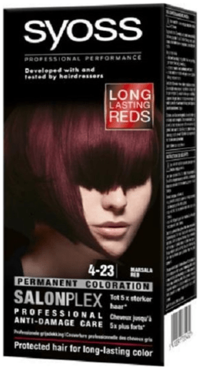 Syoss Salonplex Coloration 4-23 MARSALA RED