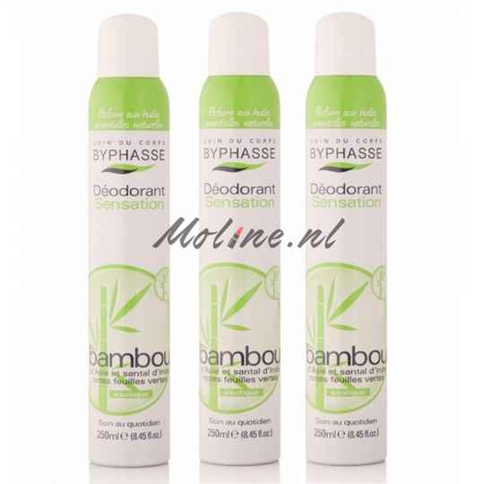 3 X Bamboo Deodorant Spray 250ml