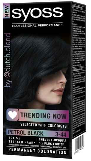 SYOSS Permanent Coloration Trending Now 3-44 Petrol Black