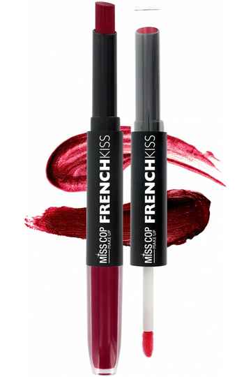 Miss Cop FRENCH KISS Duo Gloss & Lipstick 06 Cerise Noire
