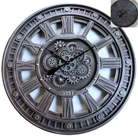 Gear Clock Industrial Traditional Grizzle 90*10cm