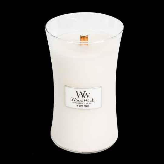 WW White Teak Large Candle