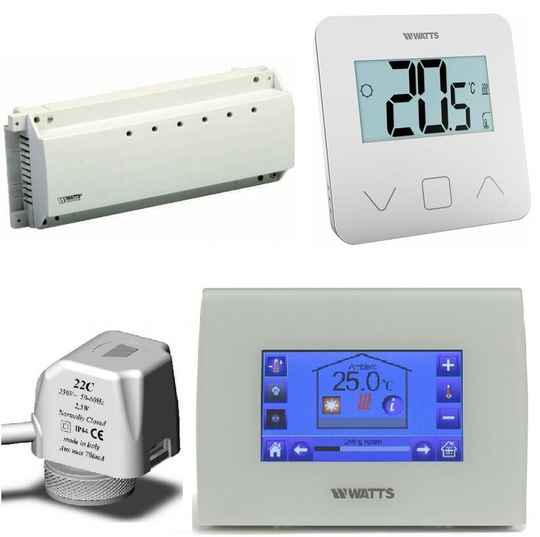 Watts Vision Centrale Touch vloerverwarming wit set | 50654 set2