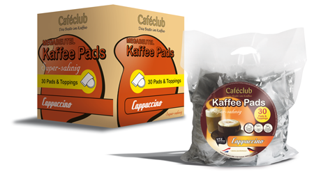 Cafeclub Cappuccino 240 pads.