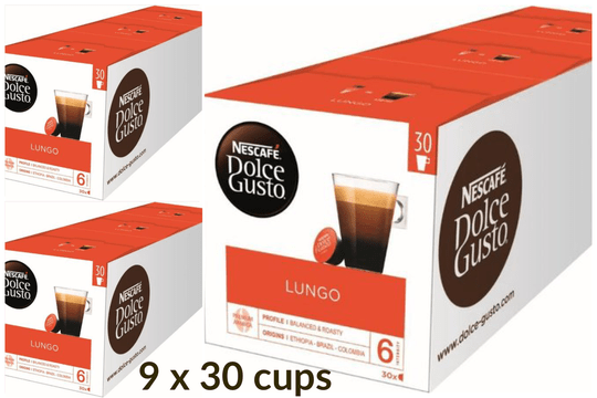 Dolce Gusto Lungo XL 9x30 cups/€6,79 per 30x
