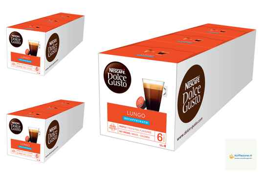 Dolce Gusto Lungo Cafeïnevrij 3x48 cups.