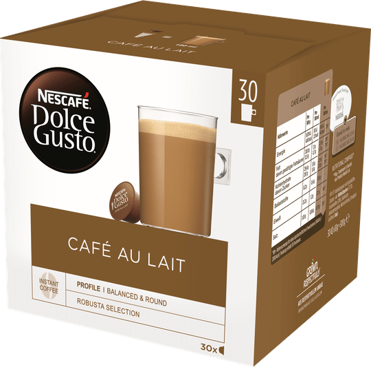 Cafe au lait 30 cups