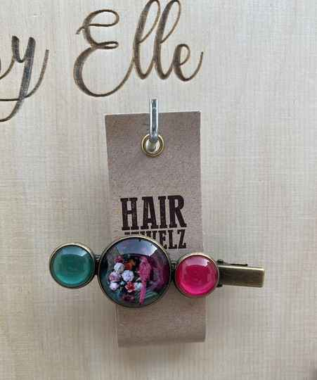 Hairjewelz color clip alligator Pink Miracle