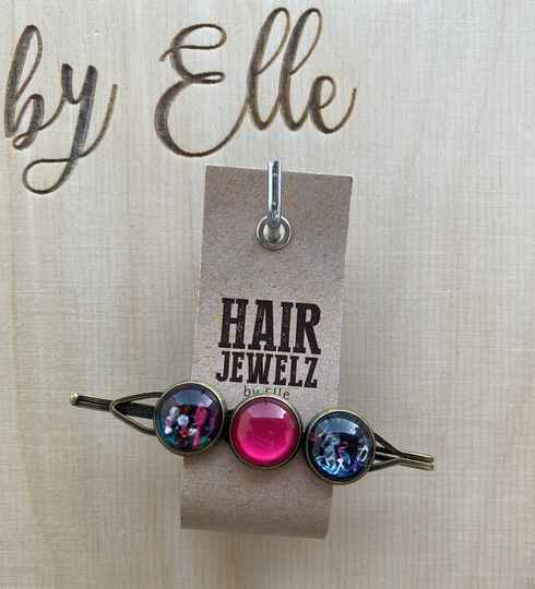 Hairjewelz color clip triple Pink Miracle