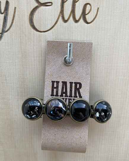 Hairjewelz color clip original Silence Black