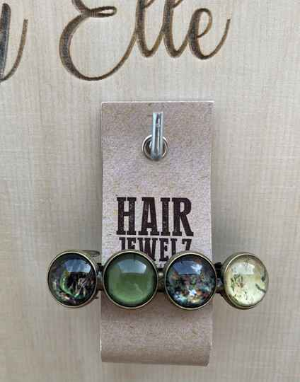 Hairjewelz color clip original Green Secret